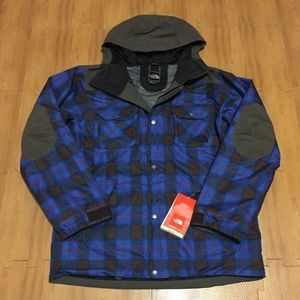 The North Face Men`s L Plaid Steep Shell Jacket
